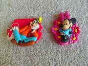 Collection Of 2 Vintage Disney Resin Refrigerator Magnets Goofy And Minnie Mouse