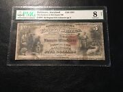 National Bank Note Baltimore Maryland Pmg8 Vg Net 1 Of 2 1865 5.00 Notes Known