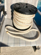 Anchor Rope Dock Line 1 X 110and039 3 Strand Twisted 100 Nylon White Made In Usa