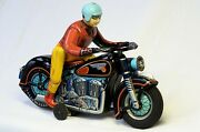 Modern Toys 1950's Expert Motor Cyclist Video Of Toy Working W/box