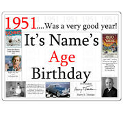 70th Birthday Party Supplies Age 70 1951 Custom Banner Yard Sign Icing