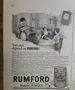 1924 You Can Depend On Rumford Baking Powder Vintage Baking Food Ad