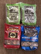 Cowboy And Western Brand Smoker Cooking Wood Chips Lot-apple X2-cherry-hickory
