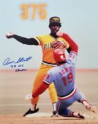 Signed 11x14 Rennie Stennett Pittsburgh Pirates Autographed Photo - Coa