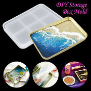 Diy Silicone Large Tray Resin Casting Mold Epoxy Mould Craft Rectangle Tool Kit