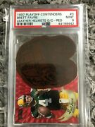 Brett Favre 1997 Playoff Contenders Helmet Red Dc Psa 9 Mint Leather Packers /25