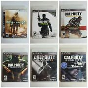 Call Of Duty Lot 6 Game Ghosts Modern Warfare 23 Black Ops 12 Advanced W. Ps3