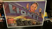Lionel Trains Metal Advertisement Sign 16 X 12 Multiple Engines 1952 Sign