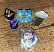 Lot Of 6 Us Military Air Force Army Pins Commemorative Army Air Force Lapel