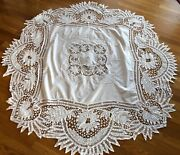 Ant Battenburg Lace Tablecloth 64 X 64 Sort Of Sq But Not Hand Made Tape Lace