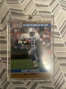 Barry Sanders Rookie Card Perfect Condition