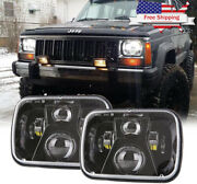 Car Led Headlights Replacement Square Super Bright Waterproof 110w Offroad Boat