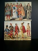 Hungary-austria-hungarian-costumes Postcards---of The 17 And 18-century=superb