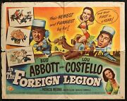 Abbott And Costello In The Foreign Legion Original Half Sheet Poster 1950