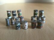 Vintage Sylvanian Families Village Store 16 X Food Cans Calico Critters