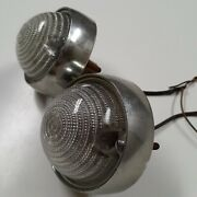 Vintage B-50 Guide Backup Light Chevy Ford Rat Rod Usa Tail Light Pair