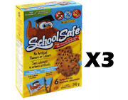 3 Boxes School Safe 6x2 Owl Banana Chocolate Chip Soft Cookies Canada Fresh