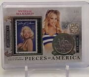 Michelle Mclaughlin Bench Warmer Pieces Of America Stamp Coin Card 1/5