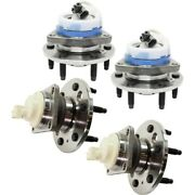 Set Of 4 Wheel Hubs Front And Rear Left-and-right For Chevy 10368309 25999685