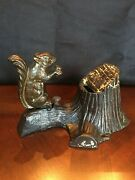 Squirrel And Tree Stump Mechanical Bank