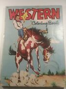 Western Coloring Book 1953, Saalfield Pub. Co. Akron Ohio, Partly Used