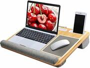 Lap Desk - Fits Up To 17 Inches Laptop Desk Built In Mouse Pad And Wrist Pad Fo...