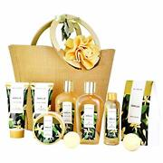 Spa Luxetique Spa Gift Baskets For Women Vanilla Bath And Body Gift Basket Gi...
