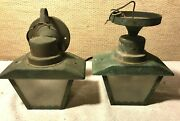 Vintage Brass/copper Mission /arts And Crafts Ceiling Porch Light And Sconce Light