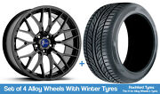 1form Winter Alloy Wheels And Tyres 19 For Honda Accord Five Stud [mk7] 98-07
