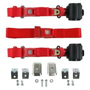 For Lincoln Continental 40 3-point Standard Buckle Retractable Bench Seat Belts
