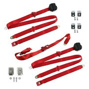 For Ford Thunderbird 80-82 3-point Standard Buckle Retractable Bench Seat Belts