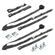 For Jeep Cj7 76-86 3-point Standard Buckle Retractable Bench Seat Belts With