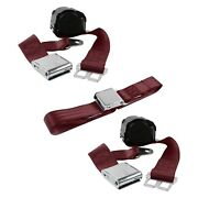 For Lincoln Continental 40 2-point Airplane Buckle Retractable Bench Seat Belts