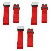 For Jeep Cj7 76-86 Safetboy 2-point Airplane Buckle Lap Bench Seat Belts, Red