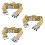 For Jeep Cj7 76-86 Safetboy 2-point Airplane Buckle Lap Bench Seat Belts, Tan