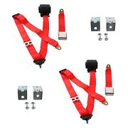 For Chevy Camaro 93-02 3-point Airplane Buckle Retractable Bucket Seat Belts