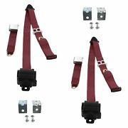 For Buick Roadmaster 54-56 3-point Airplane Buckle Retractable Bucket Seat Belts