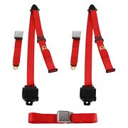 For Dodge Charger 71-74 3-point Airplane Buckle Retractable Bench Seat Belts