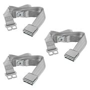 For Ford Fairlane 68-69 2-point Airplane Buckle Lap Bench Seat Belts Gray