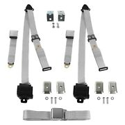 For Dodge Charger 83-87 3-point Airplane Buckle Retractable Bench Seat Belts