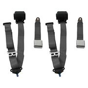 For Ford Gt40 64-69 3-point Airplane Buckle Retractable Bucket Seat Belts