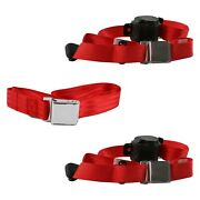 For Buick Roadmaster 57-58 3-point Airplane Buckle Retractable Bench Seat Belts