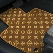 For Mazda 5 06-10 Fashion Auto Mat Carpeted 1st And 2nd Row Brown/beige Floor Mats