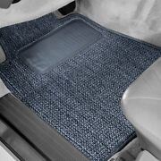 For Mitsubishi Van 87-90 Sisal Auto Mat Carpeted 1st And 2nd Row Blue Floor Mats