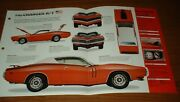 ★★1971 Dodge Charger R/t Spec Sheet Brochure Poster Print Info Photo 71 440 Rt★★