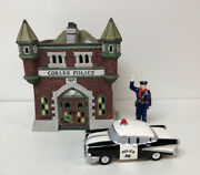 Dept 56 Cobles Police Station With Andldquocalling All Carsandrdquo Figures.