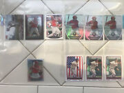 Anthony Rendon Lot Of 10 Cards 9 Rc/prospects And One Red Foil Stadium Club