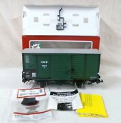 Lgb 4135s Turbo Diesel And Horn Train Sound Boxcar With Metal Wheels