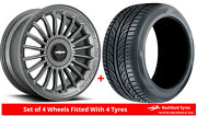 Alloy Wheels And Tyres 19 Rotiform Buc-m For Mitsubishi Outlander [mk2] 06-12