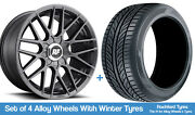 Rotiform Winter Alloy Wheels And Snow Tyres 19 For Nissan Altima [mk5] 13-18